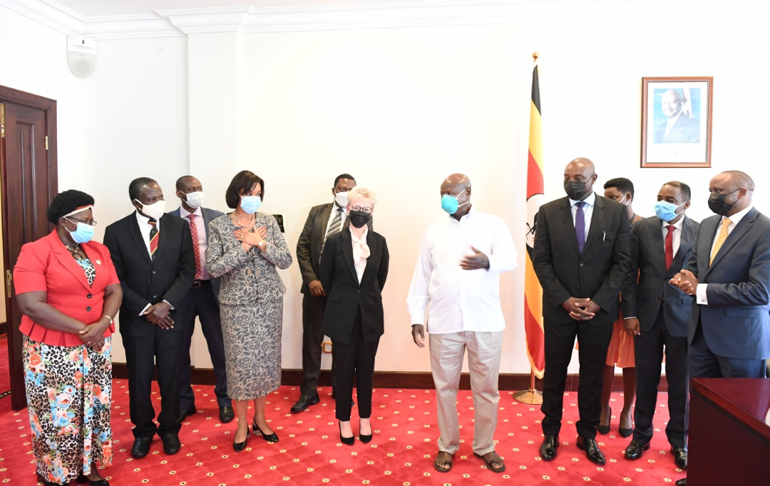 Mr. Museveni warmly welcomed Ms. Estrampes to Uganda and assured her of governments cooperation in the acquisition of the medical equipment that will be used in hospital facilities in Uganda (PHOTO/Courtesy).