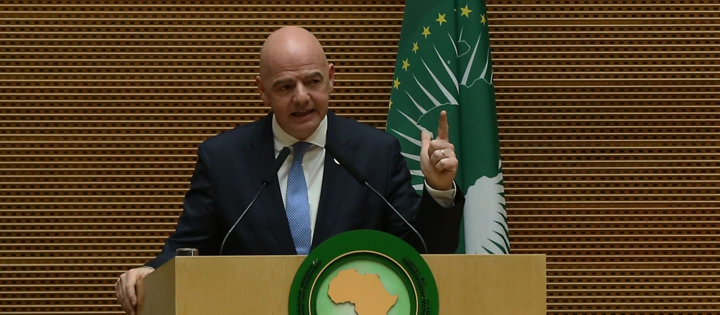 Gianni Infantino stressed the important role that Africa plays in global football (PHOTO/Courtesy).
