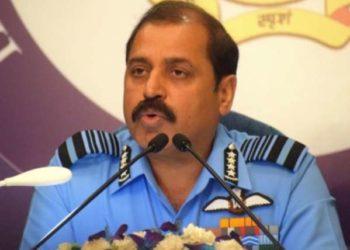 © IANS New Delhi: IAF chief R.K.S. Bhadauria addresses a press conference in New Delhi on Oct 4, 2019. (PHOTO/IANS)