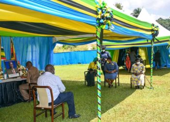 NRM members at Tanzanian high Commission in Kampala on Wednesday (PHOTO/Courtesy).