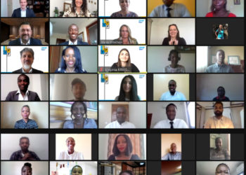 Youth during a virtual graduation. Program prepares 27 university graduates to make immediate impact as SAP Associate Consultants (PHOTO/Courtesy).