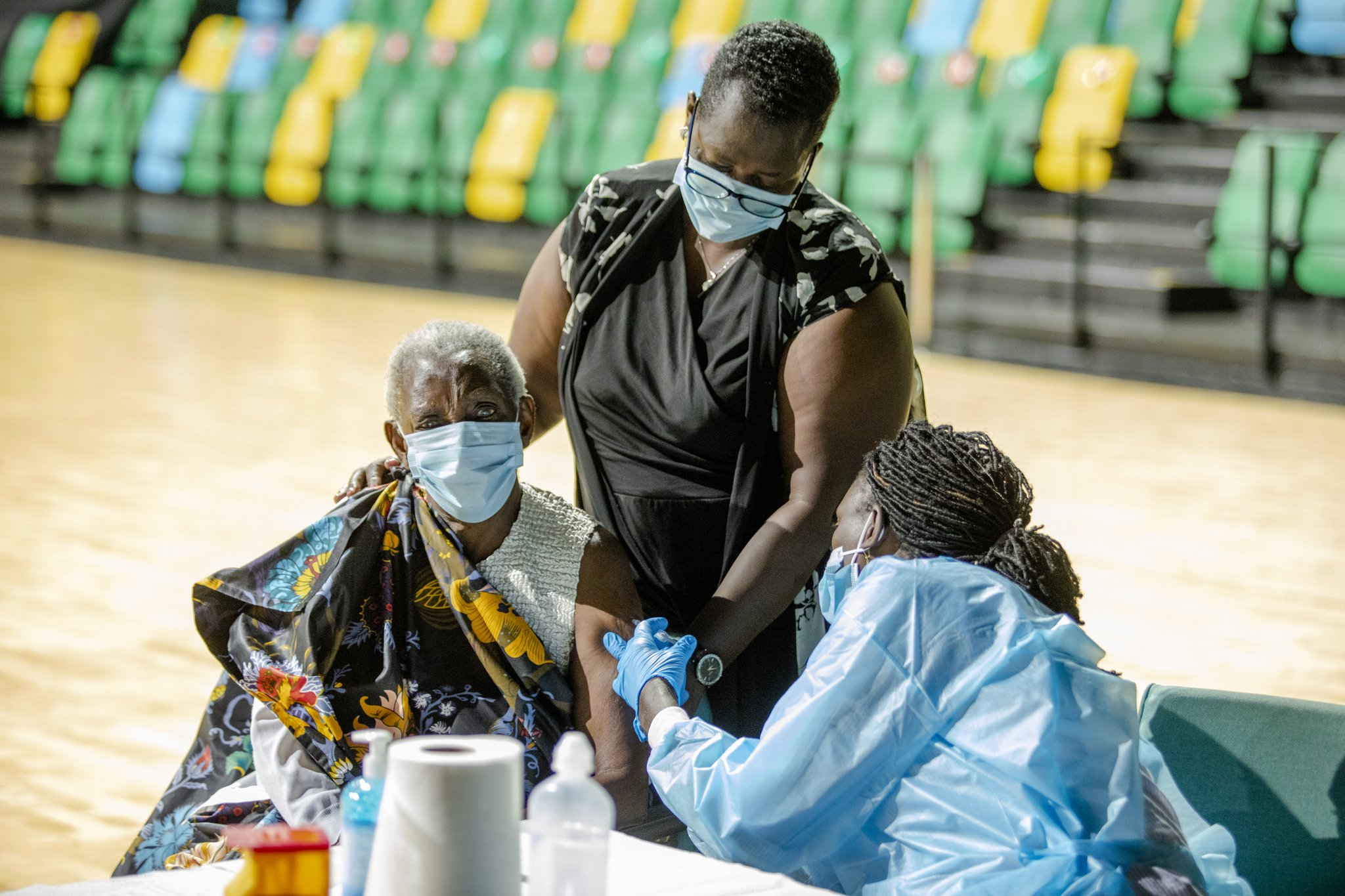 Rwanda vaccination is continuing countrywide targeting different high risk groups and other frontline workers, elders, people with chronic conditions, refugees, prisoners (PHOTO/Courtesy).