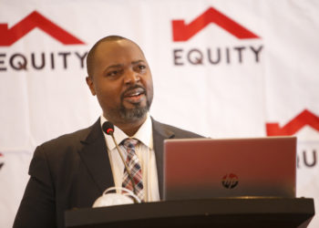 Mr. Anthony Kituuka, Executive Director- Equity Bank (U) Ltd addresses agribusiness owners at the Equity Agribusiness Forum Breakfast Meeting held at Sheraton Kampala Hotel recently. (PHOTO/Courtesy).