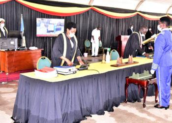 Chaired by Speaker Rebecca Kadaga, Tuesday's plenary sitting gets ready (PHOTO/Courtesy).