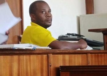 Mr Ismail Kivumbi in the dock at Buganda Road Magistrate's Court (PHOTO/Courtesy).