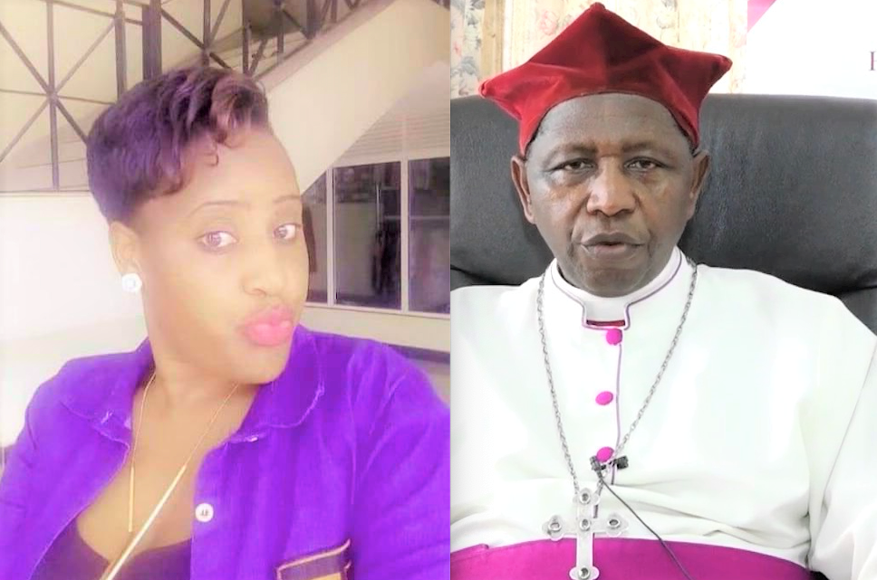 Archbishop Stanley Ntagali (R) publicly apologised on Thursday for humanely errors he committed. (PHOTO/Internet)
