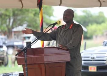 NRM Chairperson addressing the newly elected MPs at the National Leadership Institute at Kyankwanzi on Thursday (PHOTO/Courtesy).