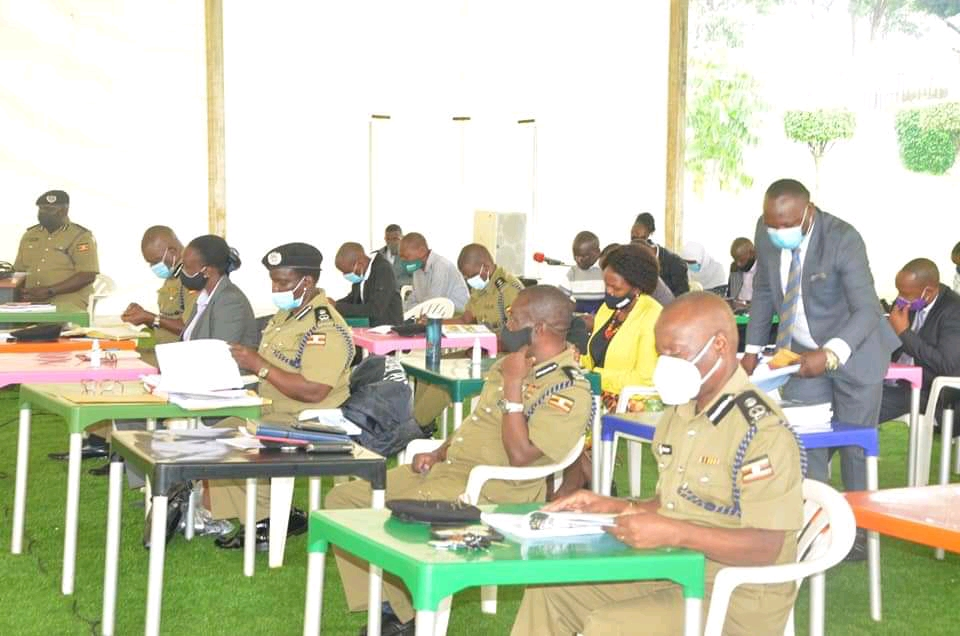 Police Officials at the Annual Crime and Traffic/Road Safety Report for 2020 on Monday (PHOTO/Courtesy).