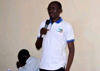 UNBS Imports Inspection Manager, Mr. Martin Imalingat during a sensitization meeting (PHOTO/Courtesy).