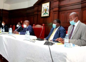 Some of the Judicial and Parliamentary officials in the meeting on Wednesday (PHOTO/Courtesy).