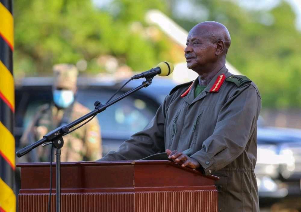 President Museveni at the ongoing three week NRM Retreat in Kyankwanzi (PHOTO/Courtesy).