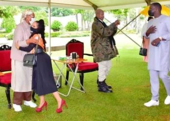 Singer Akon, wife meet Museveni, First Lady in Rwakitura last month (PHOTO/Courtesy).