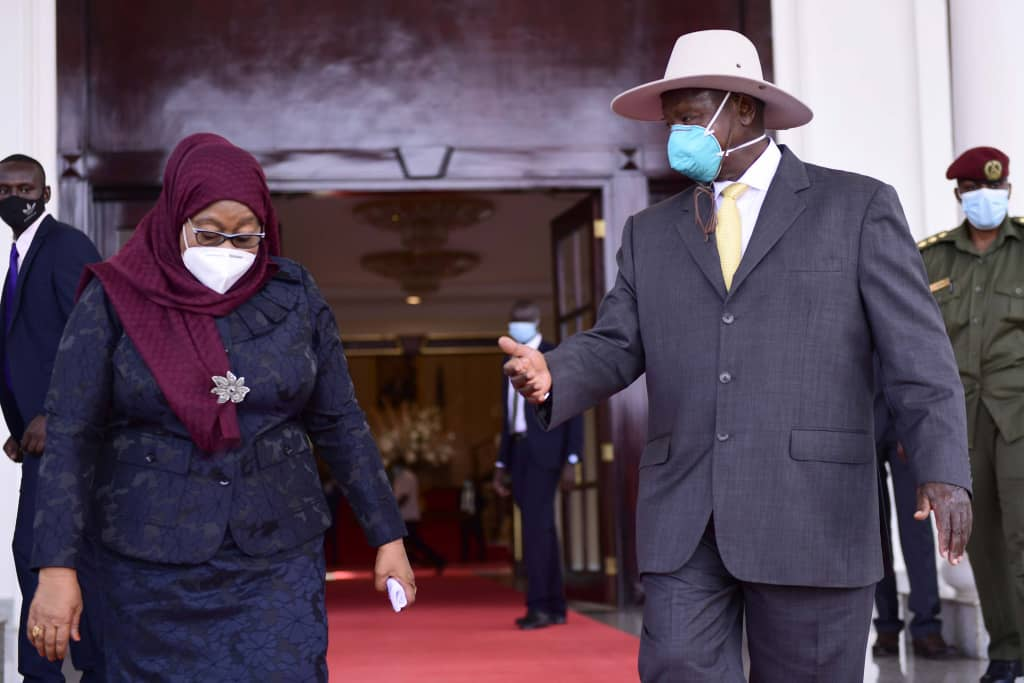 President Museveni and Tanzania's President Samia in Kampala (PHOTO/Courtesy).