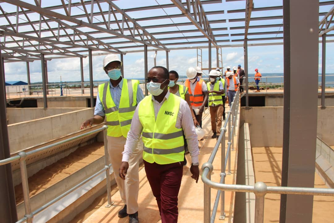 Dr. Mugisha, is currently touring the NWSC operations to set  performance targets for the teams (PHOTO/PML Daily).