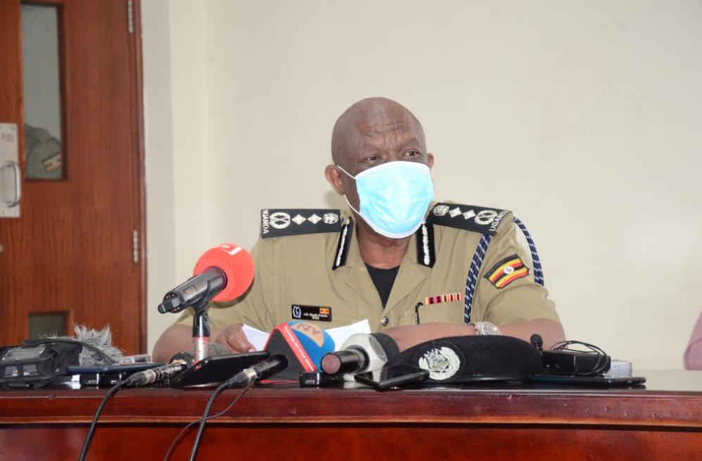 Police Chief Martin Okoth Ochola speaking to the press (PHOTO/Courtesy).