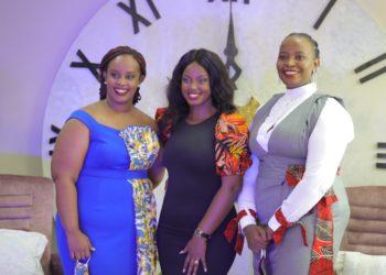 Nellie Mwandha, Head of Customer Value Management, Flavia Tumusiime Kabuura and Eunice Kanyesigye, HR & Training Manager at MultiChoice Uganda (PHOTO/Courtesy).