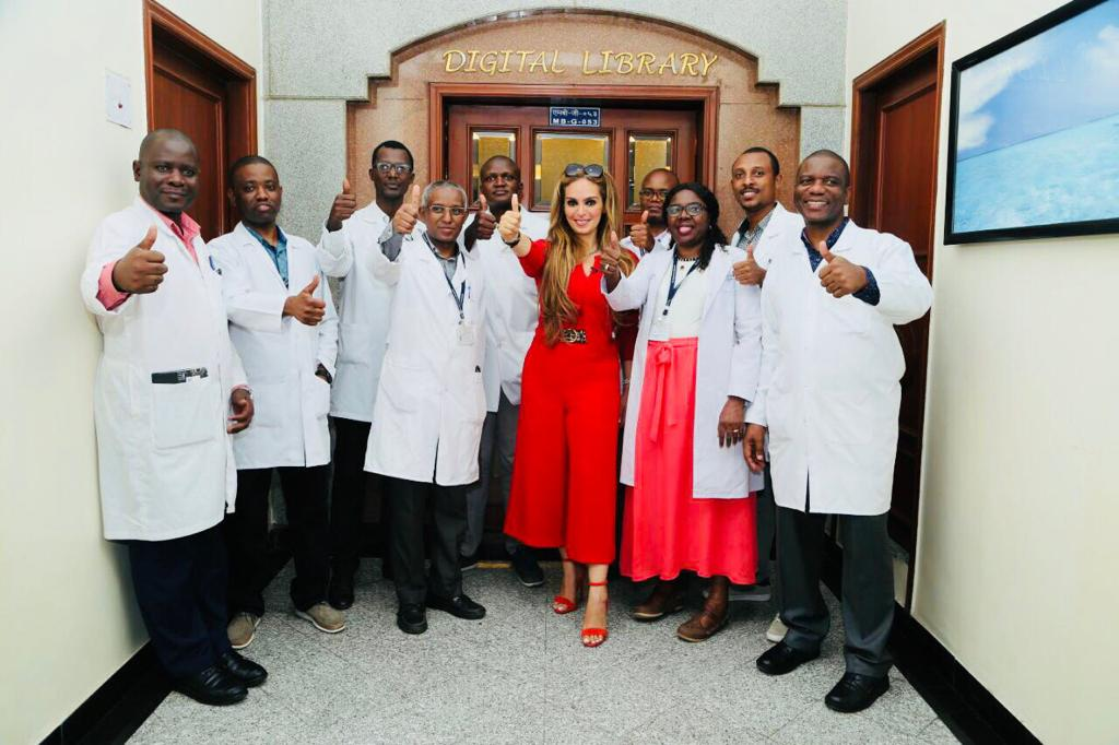 Senator Dr. Rasha Kelej, CEO of Merck Foundation with Merck Foundation Oncology Fellowship Alumni (PHOTO/Courtesy).
