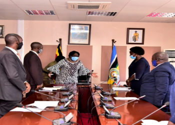 Teachers in a meeting with Speaker Rebecca Kadaga (PHOTO/Courtesy).