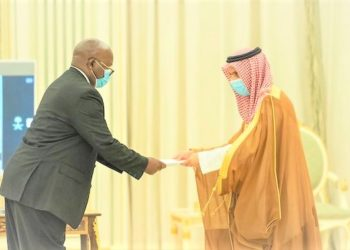 Recently appointed Uganda's Ambassador to Saudi Arabia, H.E Isaac Biruma Ssebulime (L) has an uphill task ahead. (PHOTO/Courtesy).