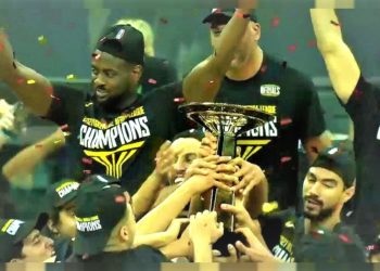 Egypt's Zamalek celebrate winning the inaugural Basketball Africa League. (PHOTO/Courtesy)