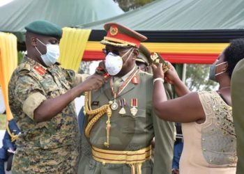 One of the promoted Generals being decorated (PHOTO/Courtesy).