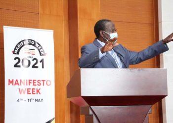 Minister Kasaija speaking on implementation of the NRM Manifesto commitments 2016 to 2021 on Wednesday (PHOTO/Courtesy).