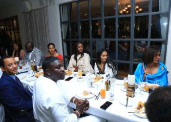 Akon and his delegation being treated at a cultural dinner hosted by the President and Uganda Tourism Board (PHOTO /Courtesy).