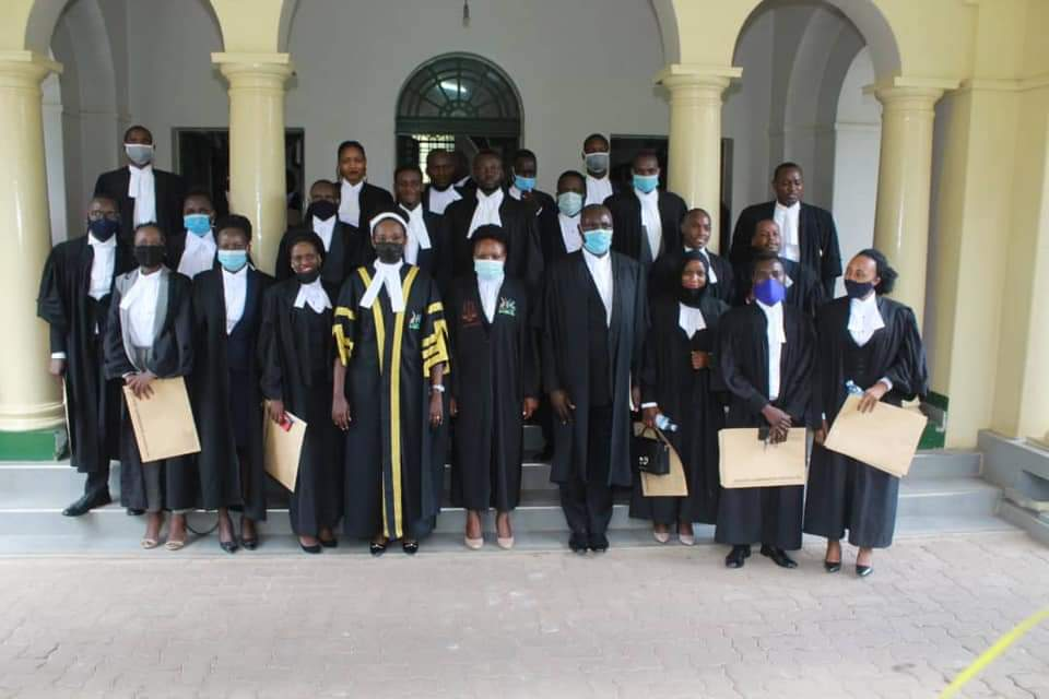 Some of the newly enrolled advocates in a group photo