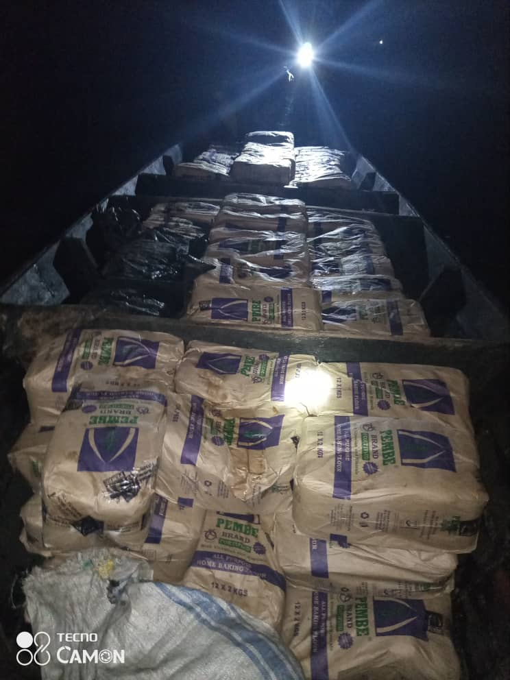 URA seized smuggled Kenyan Wheat Floor (PHOTO /Courtesy)