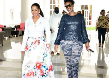 Ms. Sheree Whitfield (left) during her recent visit to Uganda (PHOTO /Courtesy).
