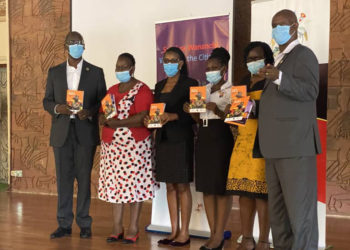 Officials at the launch of access to information guide for civil servants (PHOTO/Courtesy).