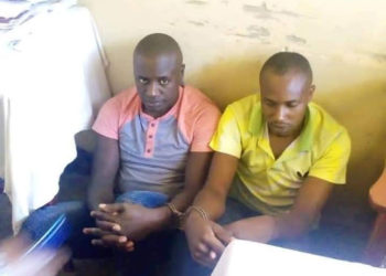 The two arrested suspects (PHOTO/Courtesy).