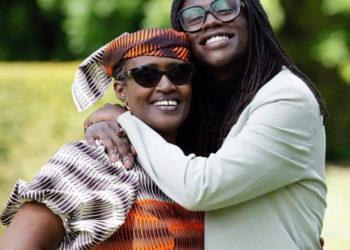 Dr Kizza Besigye's family; wife, Winnie Byanyima and their son Anselm Besigye (PHOTO/Courtesy).