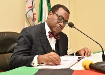 Dr. Akinwumi A. Adesina, President African Development Bank Group (AfDB) signs the Visitors' Book during the meeting with the Chairperson Council and Management on Day 5 of the 71st Graduation Ceremony (PHOTO /Courtesy).
