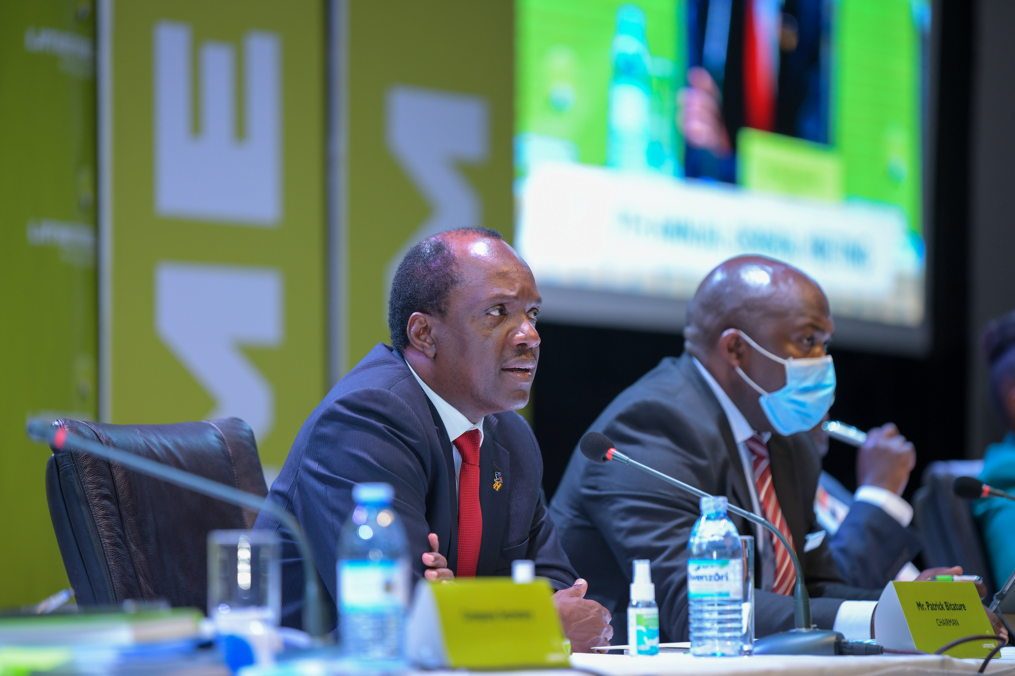 Mr Patrick Bitature, Chairman of the Board speaks during the AGM (PHOTO/Courtesy).