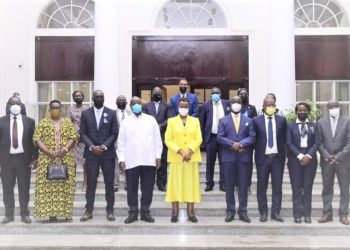 Guests who attended a function where President Museveni hosted  Denis Onyango to a farewell functions. (PHOTO/Courtesy)