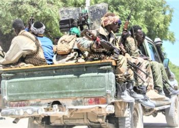 Somali opposition fighters retreat to their bases. (PHOTO/Internet)