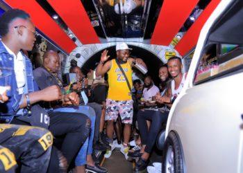 Staff of haiby zziwa enjoying the party bus (PHOTO/PML Daily).