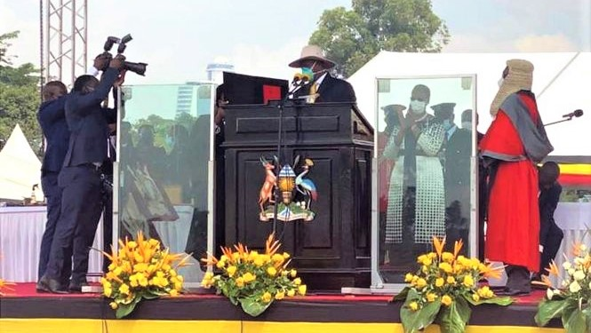 President Museveni was sworn-in for a sixth term on Wednesday. (PHOTO/Courtesy).