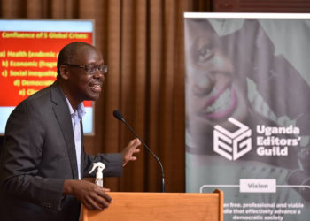 Mr. Aidan Eyakuze, Executive Director Twaweza East Africa, partners of the Uganda Editors' Guild (PHOTO/Courtesy).