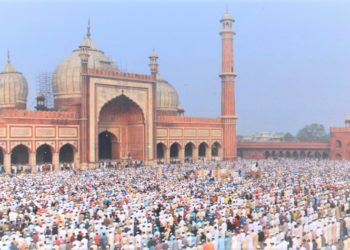 Muslims congregate for Eid prayers. (PHOTO/Internet).