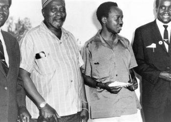 African Fathers: L-R; Dr Obote (Uganda), Jomo Kenyatta (Kenya), Julius Nyerere (Tanzania) and Kenneth Kaunda (Zambia). (PHOTO/Internet)