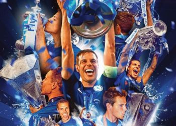 Chelsea players celebrate with the trophy after winning the Champions League (PHOTO /Courtesy)