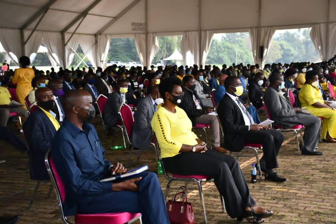 Some of the NRM members Parliament at the function on Sunday (PHOTO/Courtesy).