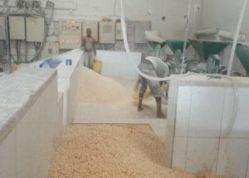 Workers at Wondermeal Grain Millers Ltd in Kawanda (PHOTO /Javira Ssebwami)