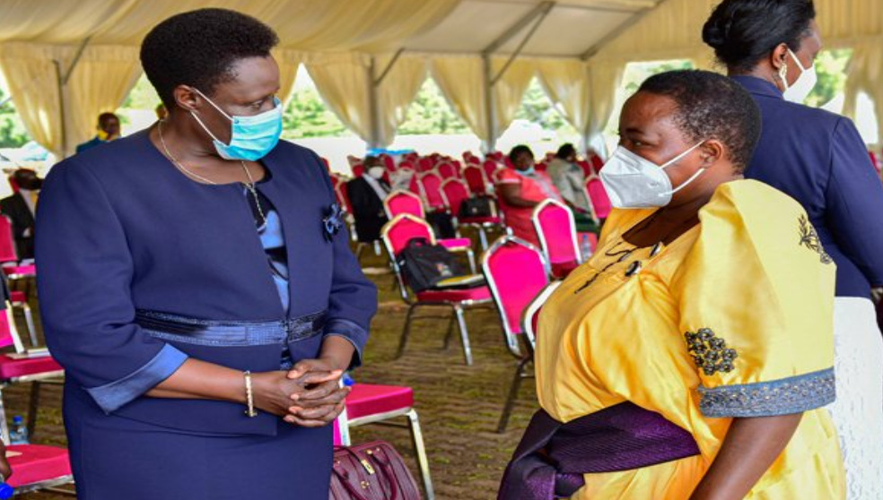 The pending approval Vice President and Prime Minister, Jessica Alupo and Robinah Nabbanja respectively (PHOTO/Courtesy).
