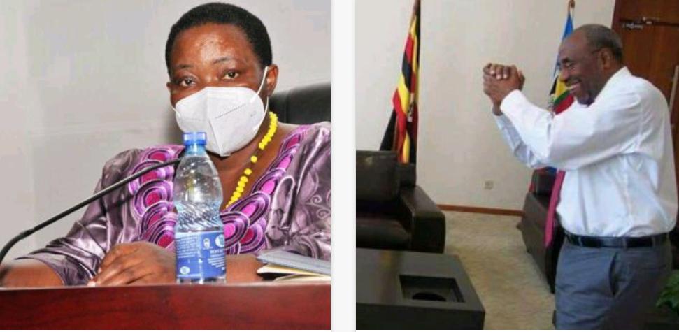 Current and former Uganda Premiers, Nabbanja and Rugunda respectively (PHOTO/File).