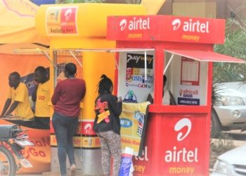Mobile Money outlets are some of the busiest businesses during the lockdown. (PHOTO/File)