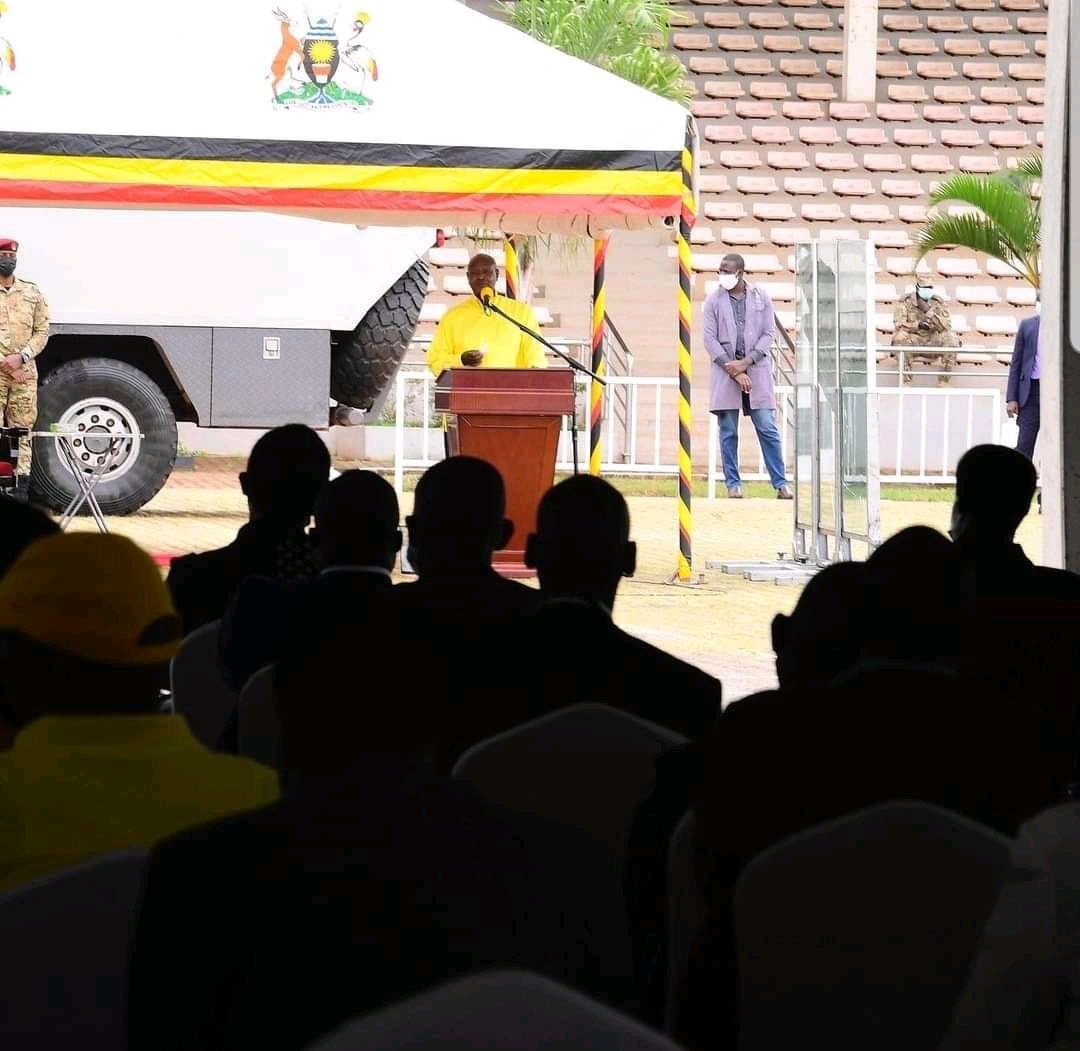 President Museveni speaking NRM party Parliament Caucus members on Friday (PHOTO/Courtesy).