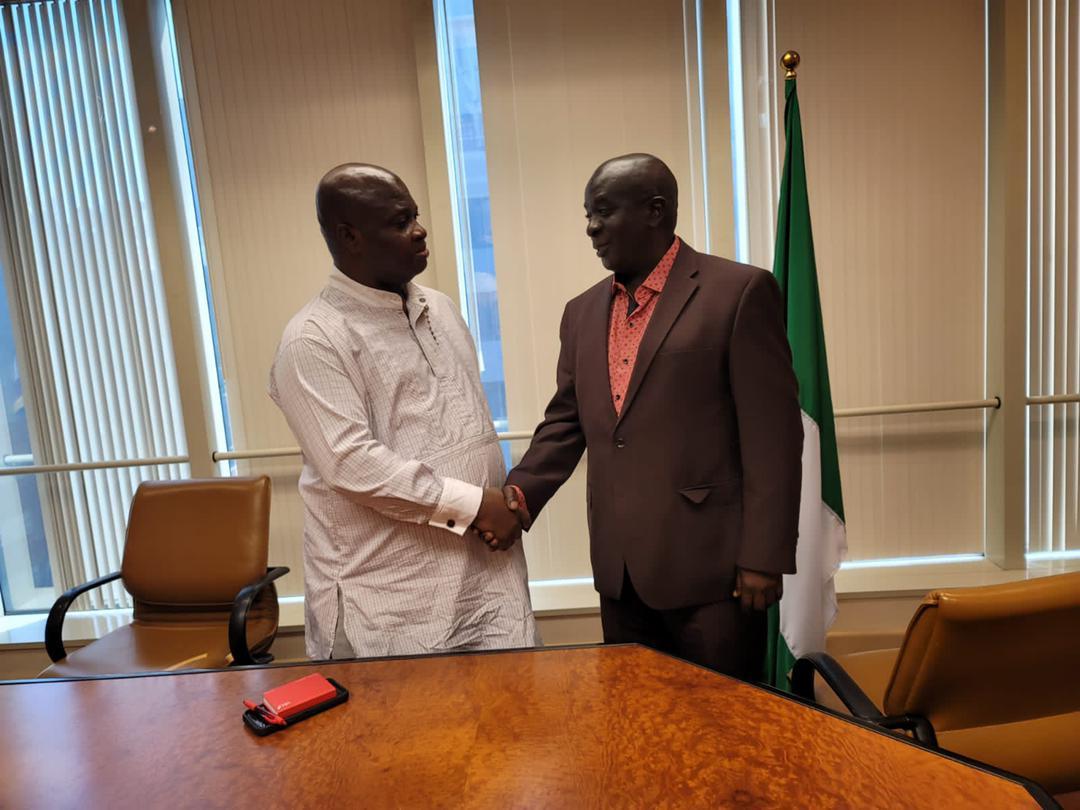 Senior Presidential Advisor on Diaspora Affairs Ambassador Abbey Walusimbi and Nigeria Consular General to New York Peter Egopija (PHOTO /Courtesy)
